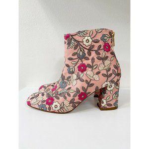 Stuart Weitzman Pure Embroidered 90mm Booties Pink